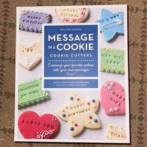 Williams Sonoma message cookie cutters NIB